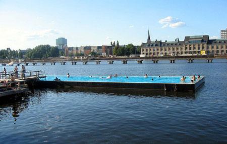 piscinas flotantes